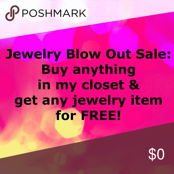 FREE JEWELRY! Buy any item in my closet, and choose a jewelry listing for free! Need to clean out for the new year. 💍 Jewelry