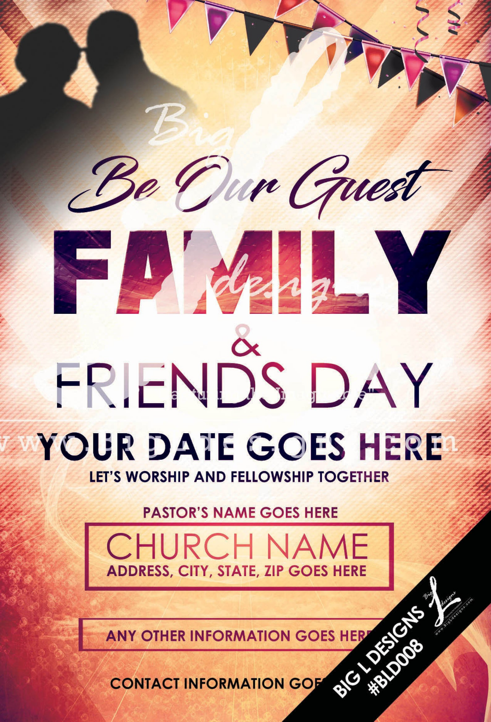 Family Flyer Template Bld008 Etsy Flyer Template Flyer Free Psd Flyer Templates