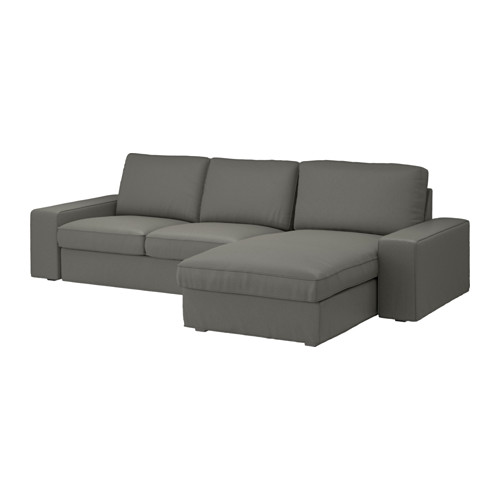 kivik 3 zitsbank borred met chaise longue borred grijsgroen