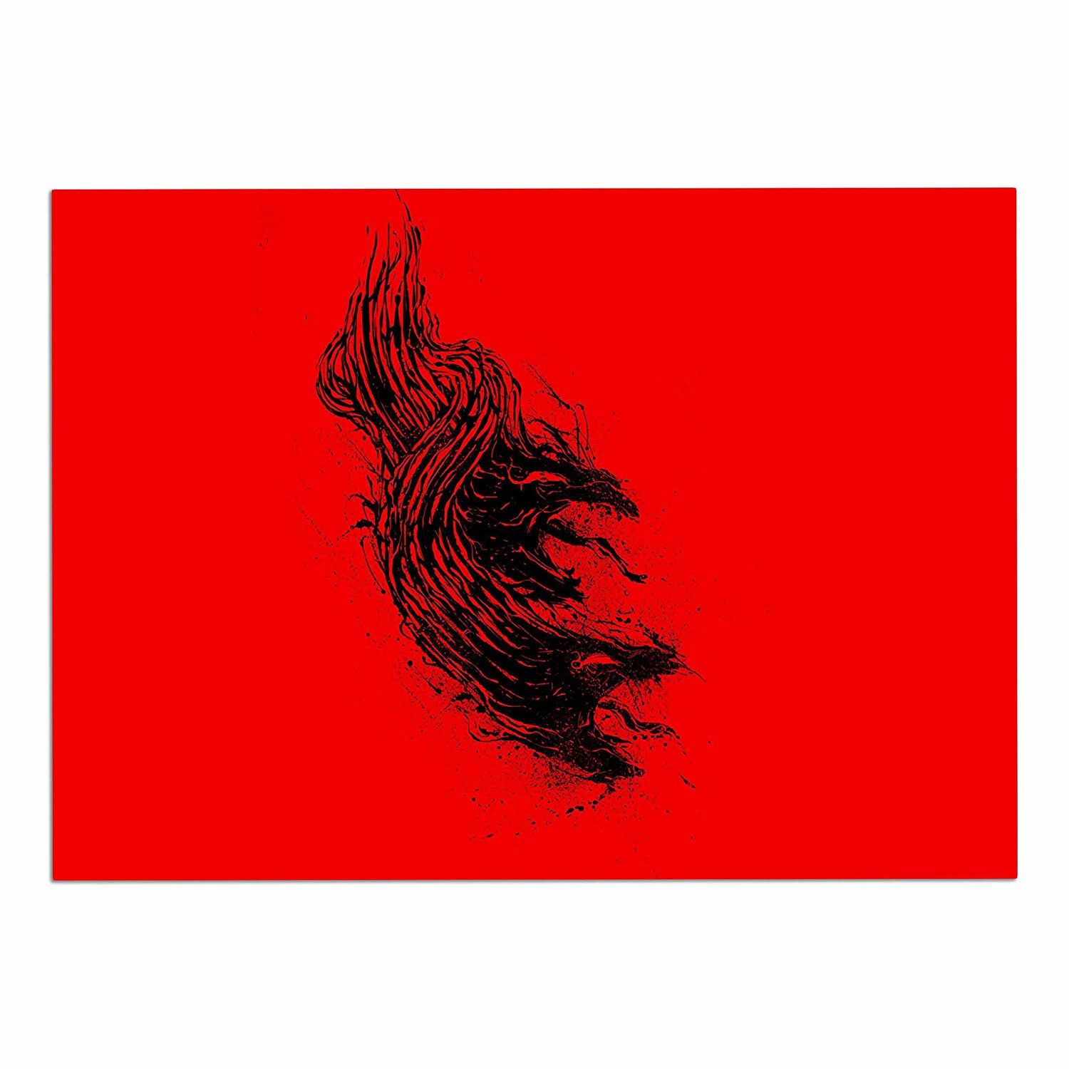 68 x 80 KESS InHouse BarmalisiRTB Came from Hell Red Digital Wall Tapestry