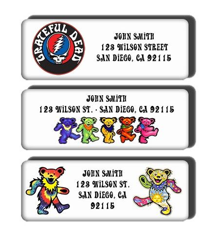 Grateful dead return address labels customized personalized stickers dreamlabeldesigns paper craft supplies on artfire