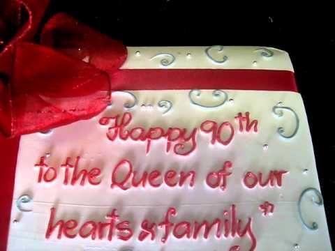 Happy 90th Birthday Cake From Bamboo Bakery In Phoenix Arizona
