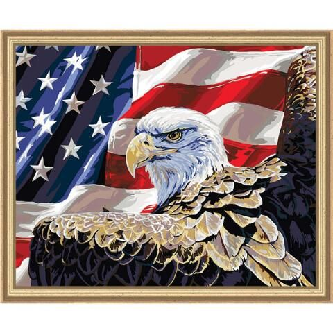 DIY Paint By Number Kit Paint On Canvas God Eagle Flower Dancing Arylic Painting