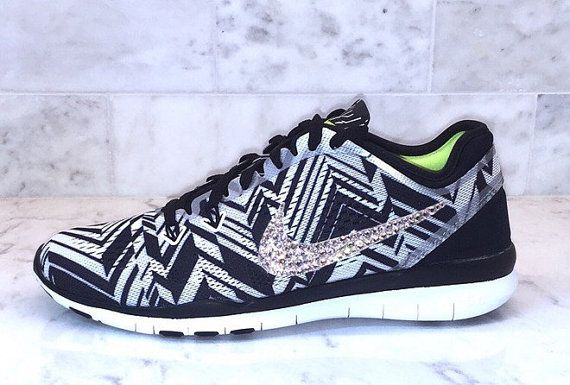 buy popular 09452 66644 Bling Chevron Nike Free TR Fit 5.0 Swarovski by GoldHomeCouture