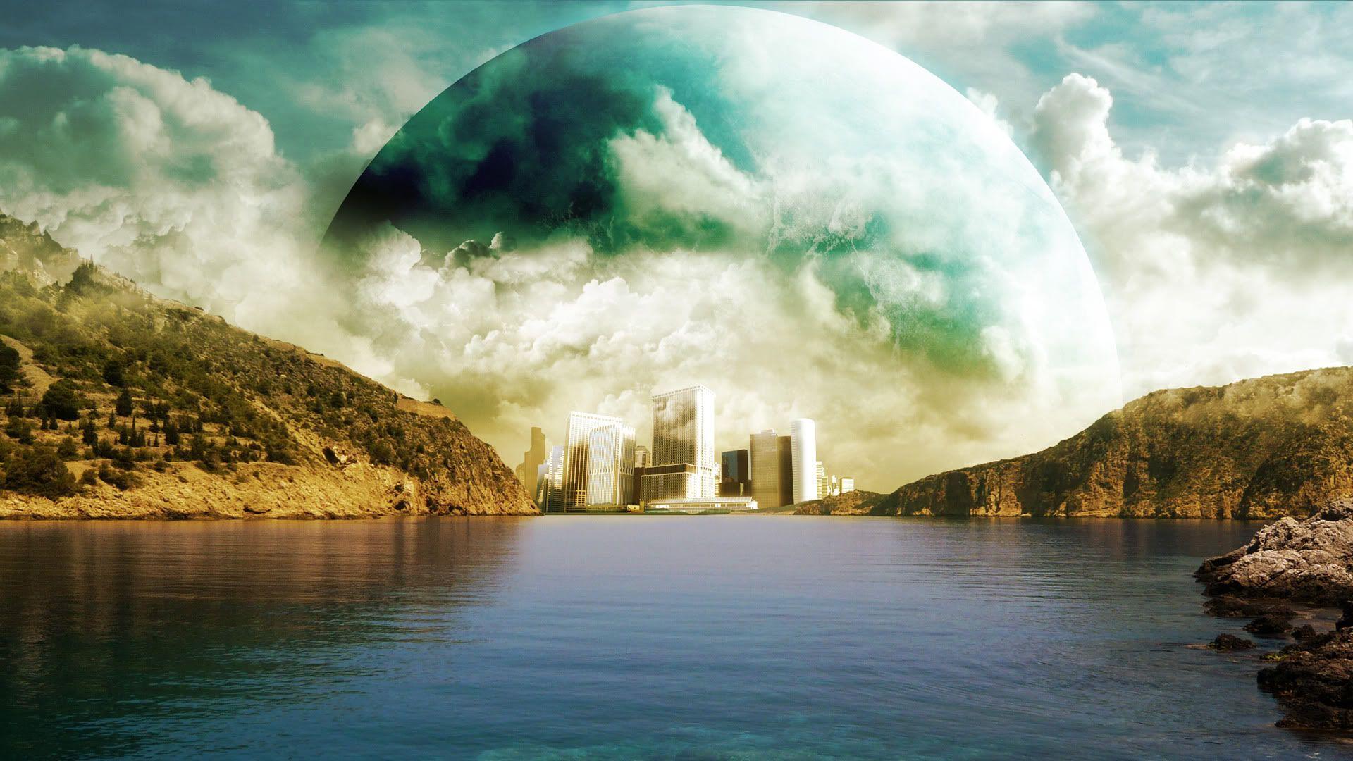 40 Hd Fantasy Ipad Wallpapers: Awesome Fantasy Sci Fi Landscape Wallpaper HD 1
