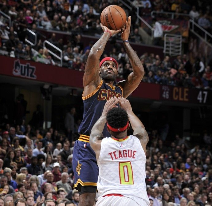 Cleveland Cavaliers x Atlanta Hawks, NBA, Lebron James (Foto: Getty Images)