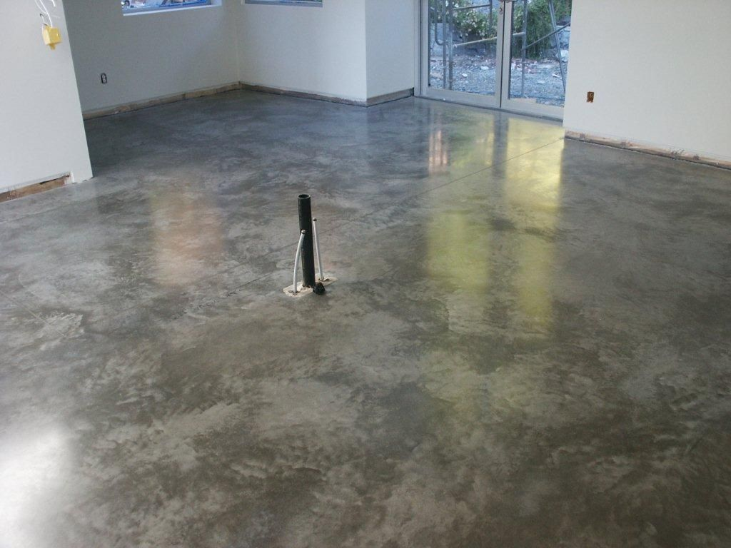 Natural concrete polished concrete flooring for Concrete floor covering ideas