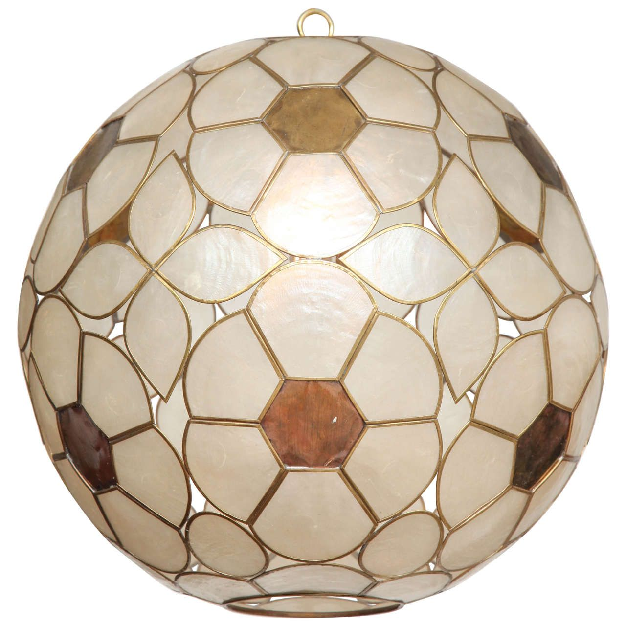1960s capiz shell floral globe light fixture globe lights globe 1960s capiz shell floral globe light fixture from a unique collection of antique and modern arubaitofo Images