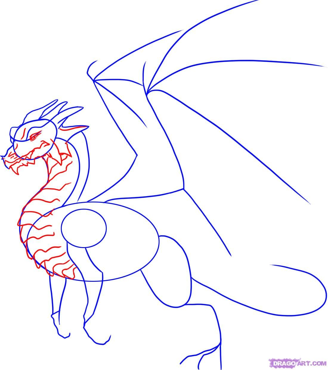 How To Draw A Dragon Step By Step Step 3