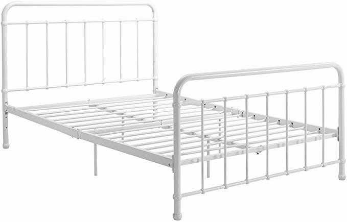 Amazon Com Dhp Brooklyn Metal Iron Bed W Headboard And Footboard