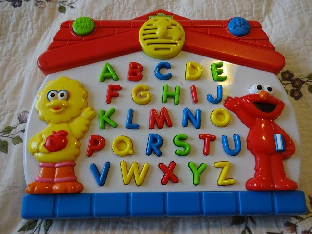 Alphabet Learning Toys : Vintage sesame street big bird elmo let s find abc alphabet