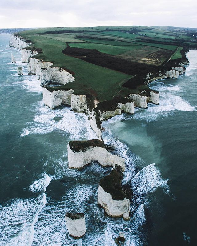 WEBSTA @ livefolk - Guys @ryansheppeck here signing out with perhaps my favourite photo this year. A drone banger at Old Harry Rocks on the south coast of England. Finally managed to get this shot after months of dreaming about it. Visited this place a number of times but nothing puts it into perspective like an aerial view. Are any of you visiting England over the next few months? I'd be stoked to show you around. Shout out to @fabiooliveira for asking me to share my work here, really hope…