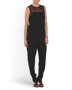 image of Jumpsuit With Mesh Yoke
