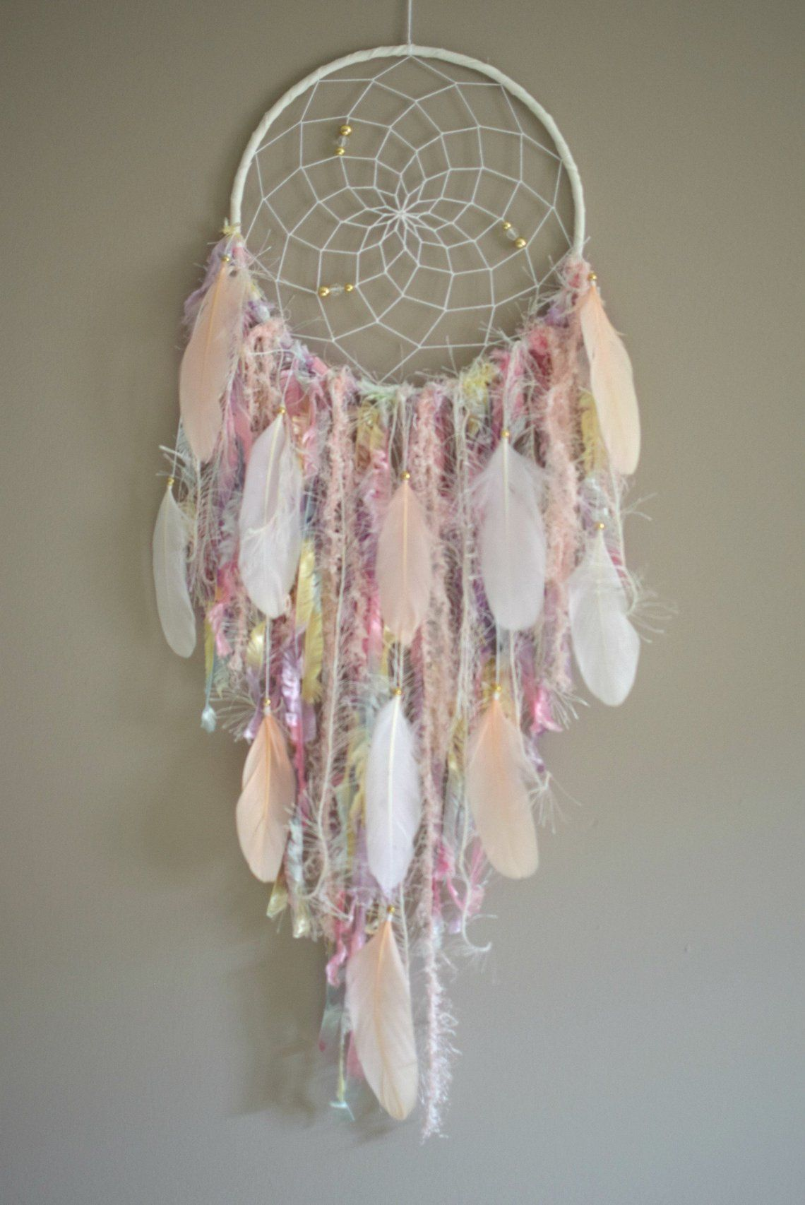 Bohemian Dream Catcher Large Dreamcatcher with Feather Wall Hanging Pendant