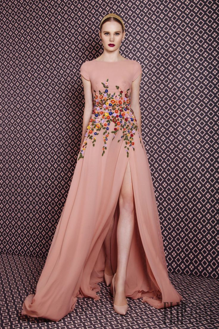 This embroidered floral gown is GORGEOUS!! Georges Hobeika Fall ...