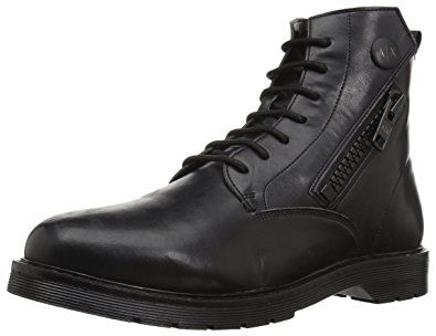 ax armani exchange men's lace up side zip military and