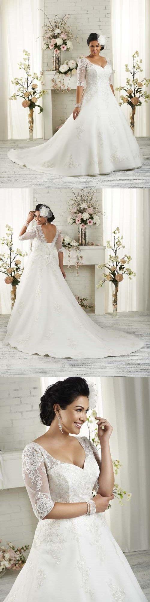 Plus size wedding dresses wedding dresshalf sleeves wedding