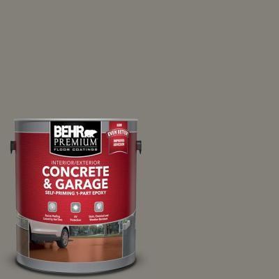 Behr Premium 1 Gal 902 Slate Gray 1 Part Epoxy Satin Interior Exterior Concrete And Garage Floor Paint 90201 With Images Garage Floor Paint Painted Floors Garage Floor