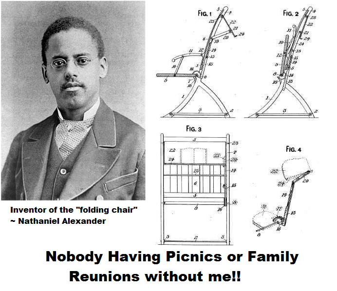Folding Chair Nathaniel Alexander Office For Tall Person The Inventor Of Memes African American History Black