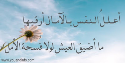 أبيات شعر قصيرة عن الأمل والأماني Poetry Arabic Calligraphy Calligraphy