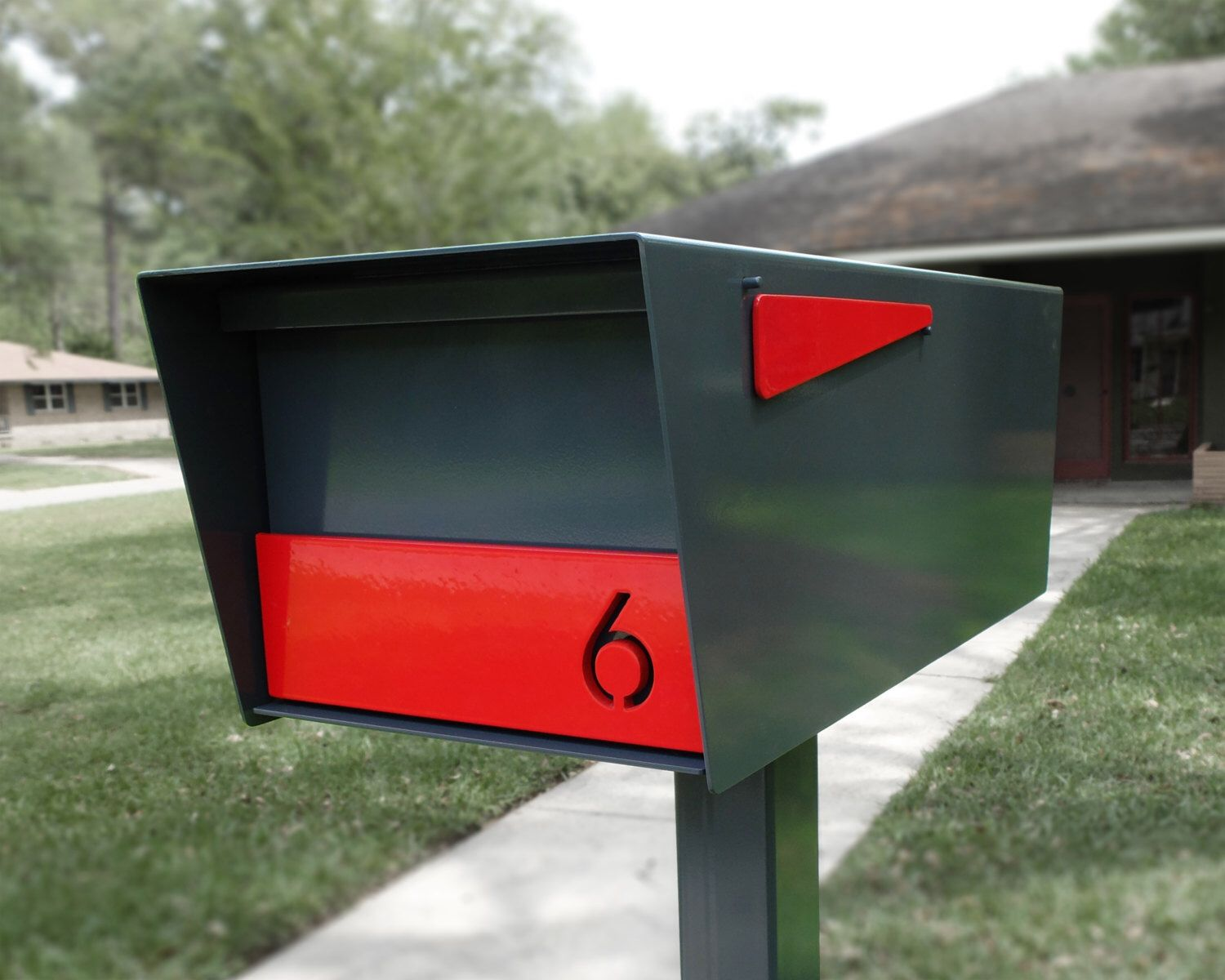 modern mailbox dwell. Modern Post-mounted Mailbox And Custom House Numbers. Powder Coated In Your\u2026 Dwell L
