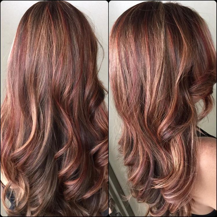 Pin By Emily Underwood On Summer Hair Blonde With Red Highlights Hair Highlights Red To Blonde
