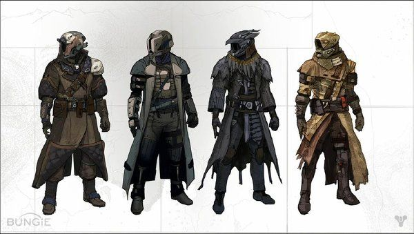three playable races from Destiny. Awoken have powers ...  |Destiny Game Races