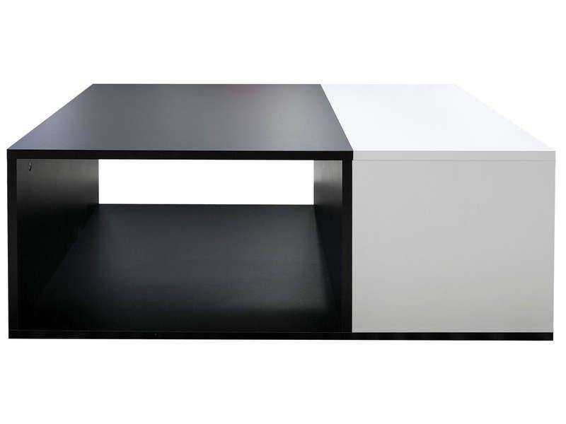 Table Basse Kub Noir Et Blanc Confo 80 Table Basse Rectangulaire Table Basse Table