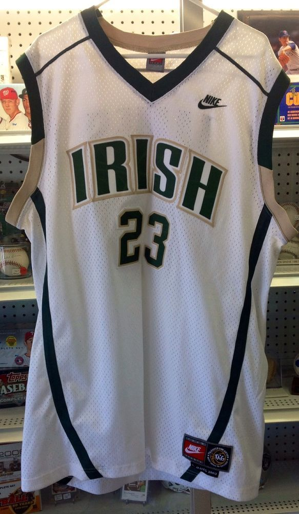 lebron irish jersey. nike lebron james st. high school irish basketball jersey xl #nike b