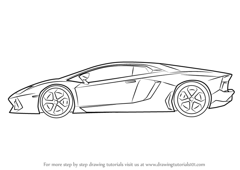 How To Draw Lamborghini Centenario Side View Drawingtutorials101 Com Car Drawing Pencil Lamborghini Centenario Car Drawings