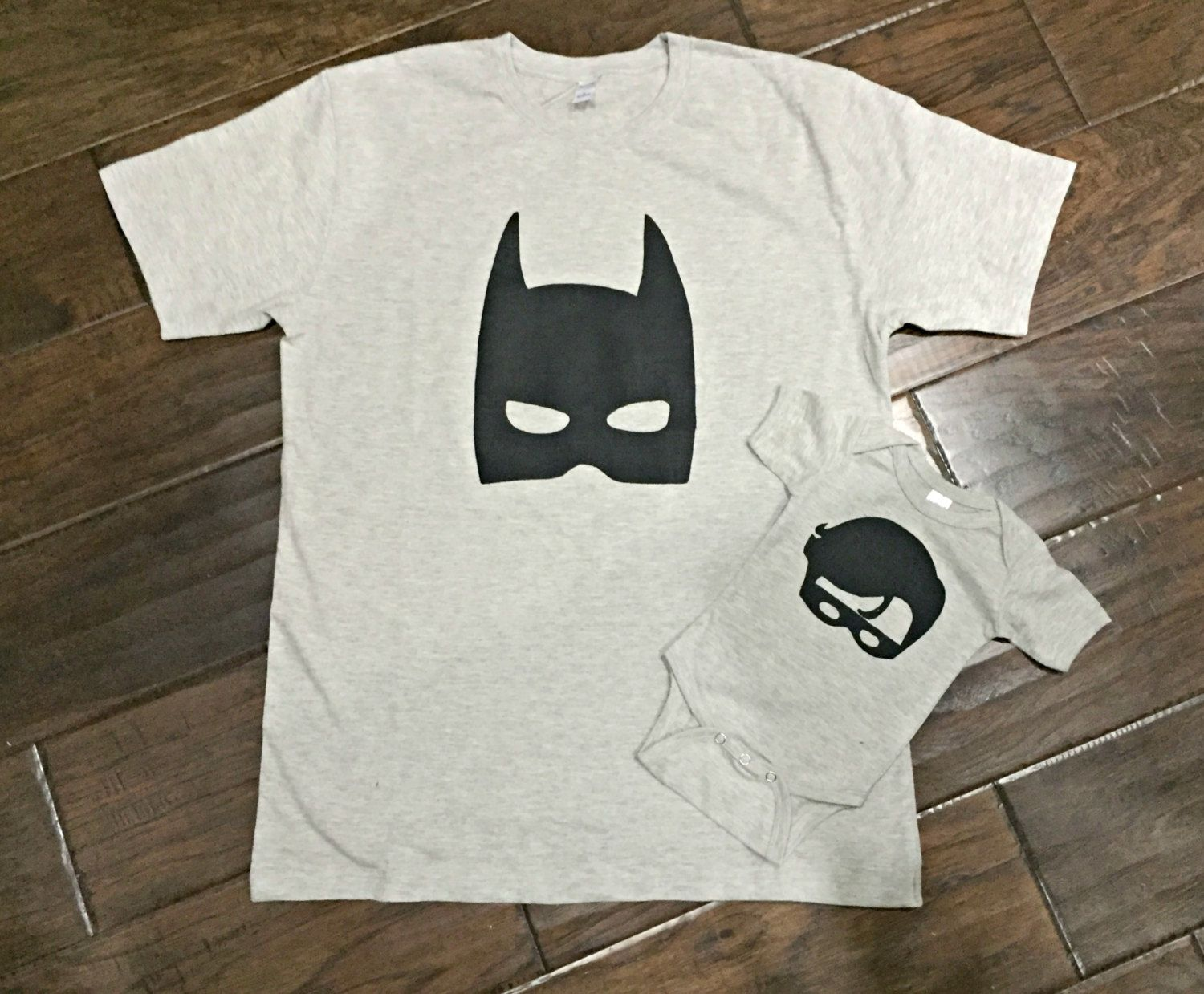 44d4d7cb7 Batman and Robin Matching Dad and Son Shirts, Custom Size/Shirt Color/Sleeve