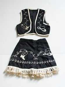 Vintage Childrens Clothes 2 pc Sears Cowboy Outfit