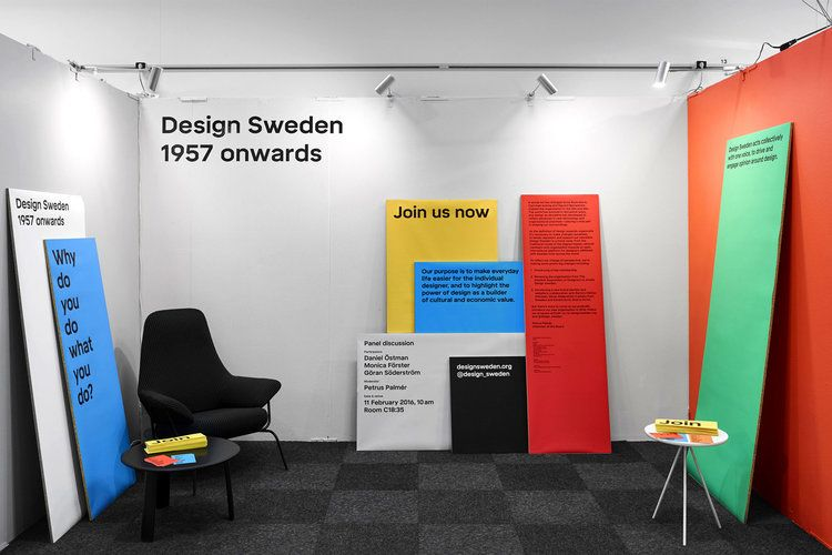 Establishing A New Identity For The Organisation Design Sweden Founded In 1957 A Custom Typeface Family Exibition Design Signage Design Identity Design Logo