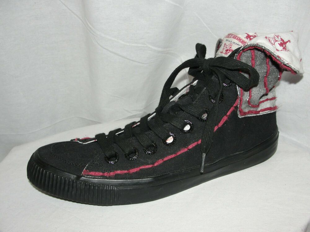 6b306894c TRUE RELIGION Shoes Men's Size 10.5 Black Rust High Top Sneakers Budda  Print #TrueReligion #FashionSneakers