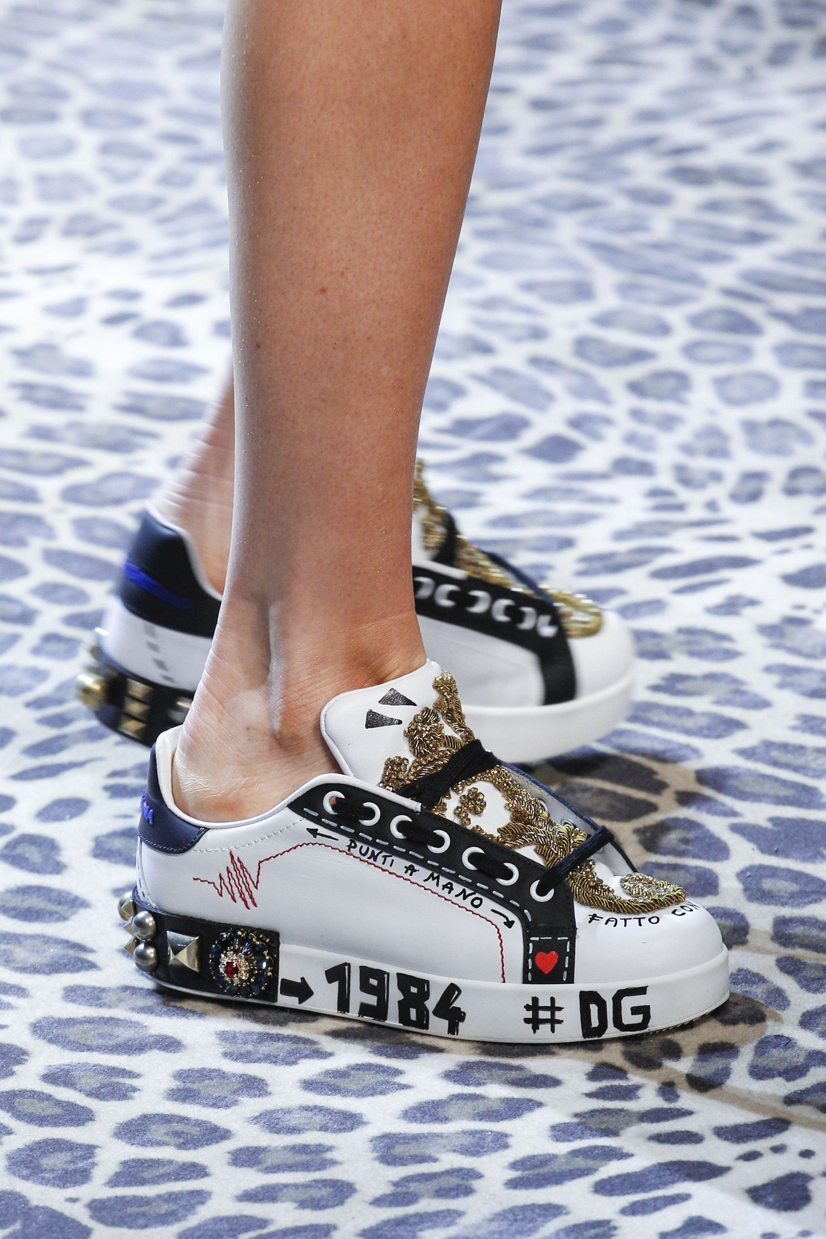 Dolce & Gabbana | The best designer shoes and shoe trends from the Autumn & Winter 2017 fashion collections so far. Browse our gallery of catwalk inspiration and new season shoe styles.
