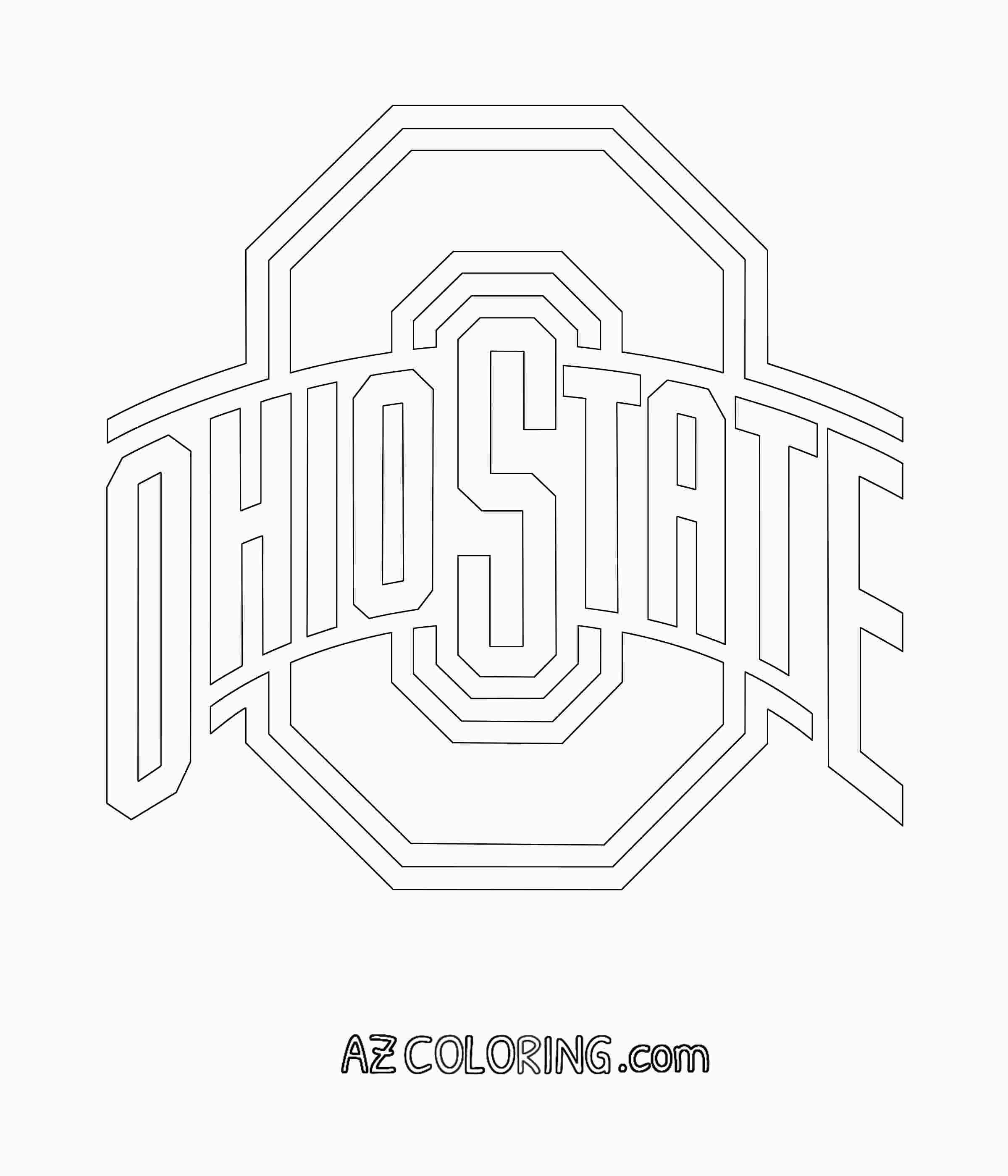 Ohio State Coloring Pages Ohio State Logo Football Coloring Pages Ohio State Buckeyes