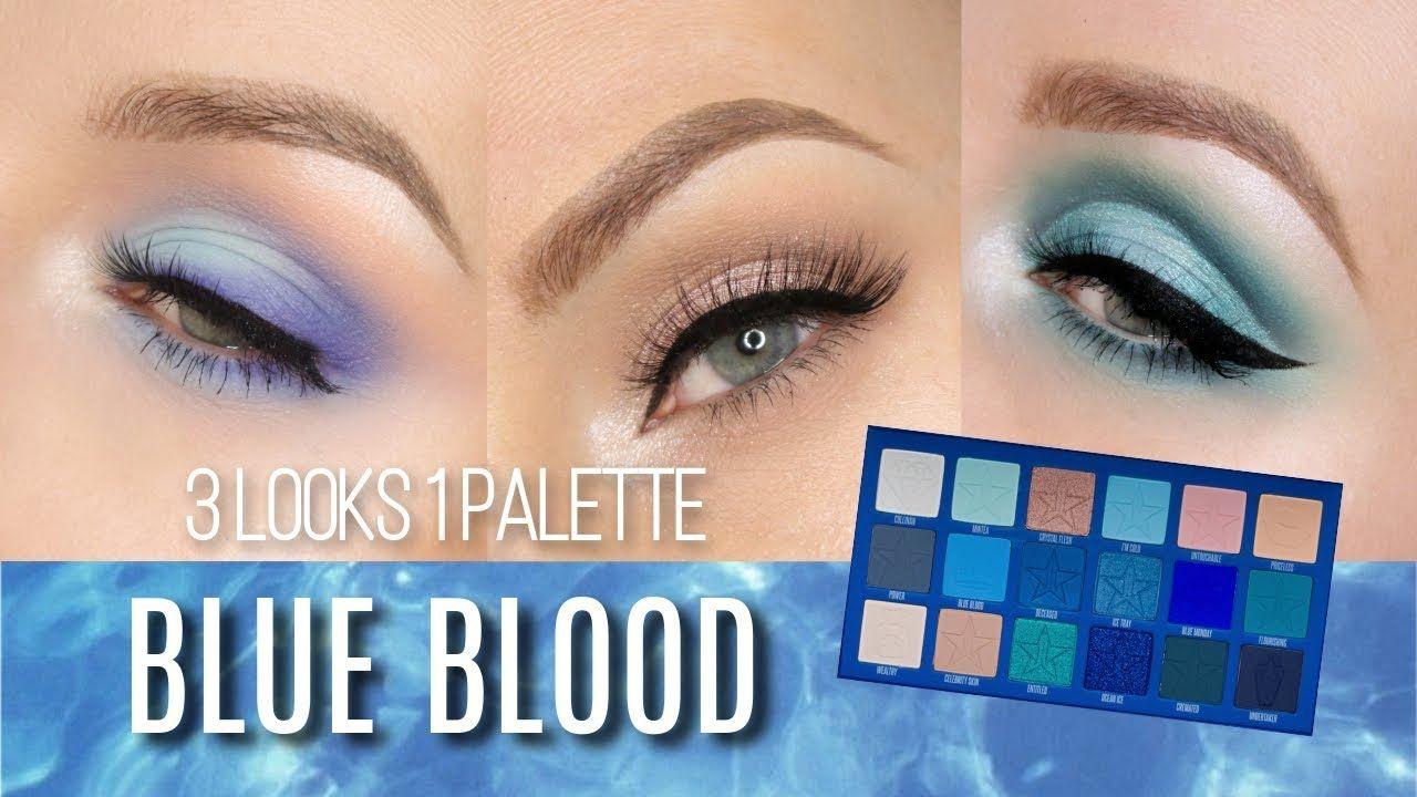 3 LOOKS 1 PALETTE JEFFREE STAR BLUE BLOOD Blue makeup