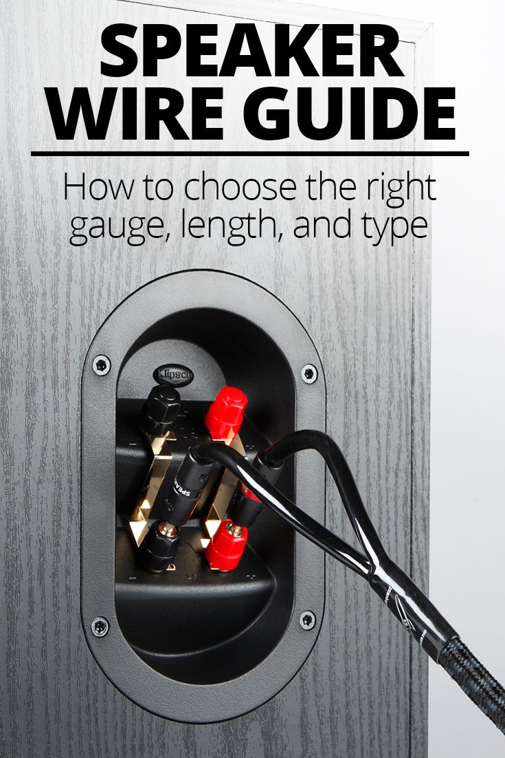 simple straightforward guidance on finding the right speaker wire for your speakers  [ 735 x 1102 Pixel ]