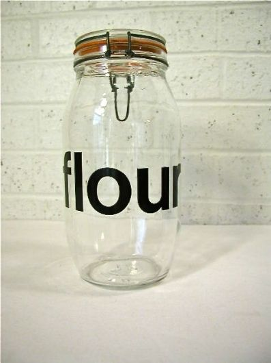Vintage Glass Flour Jar / made in France by bluebell on Etsy