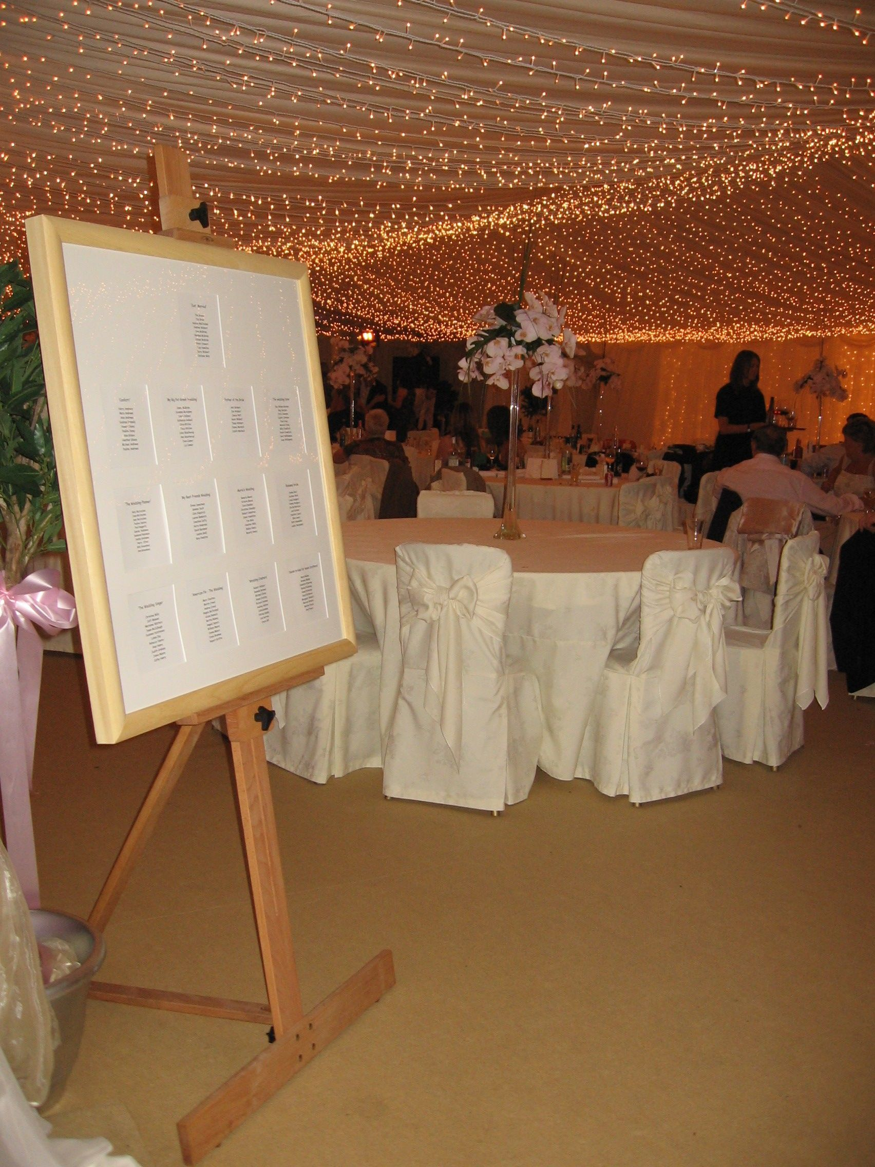 Wedding Chair Covers Hire Northern Ireland Foldable Desk Fairy Light Ivory Lining Marquee Alternative