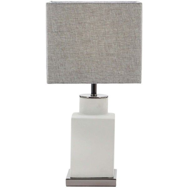Gray Table Lamps Pleasing Uma Metal Cement Table Lamp $48 ❤ Liked On Polyvore Featuring Design Decoration