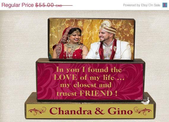 Wedding Keepsake, Couples Gift from Wedding Planner, Custom Wedding Wood Blocks, Bride to Groom Gift, Anniversary Present, Chirstmas In July