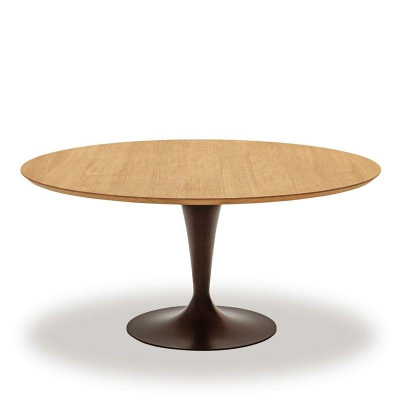 table ronde design plateau bois - flûte sovet® | chang'e 3, tables
