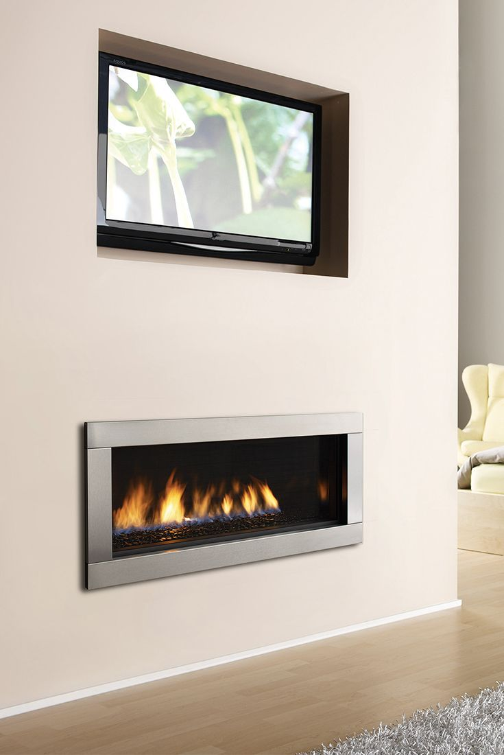 Regency Hz40e Contemporary Gas Fireplace Stairs Design