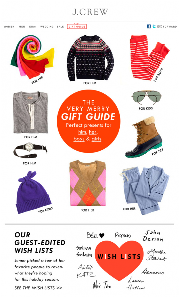 Holiday Gift Guides - gender