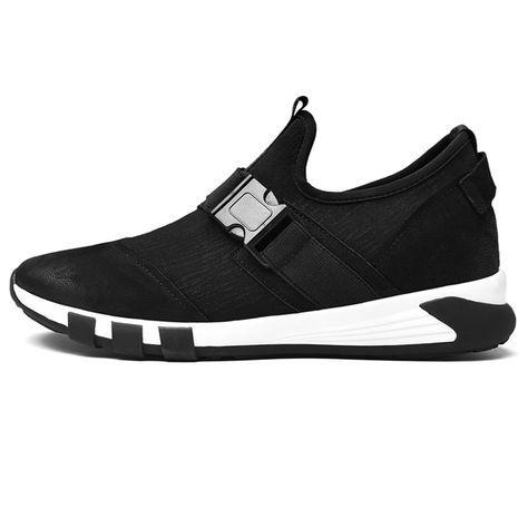 fashion elastic elevator sneaker 24inch / 6cm black