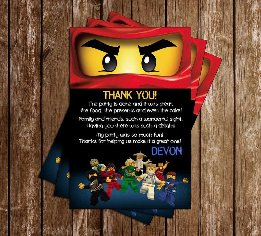 Ninjago Party Invitation Template Free  Party invite template
