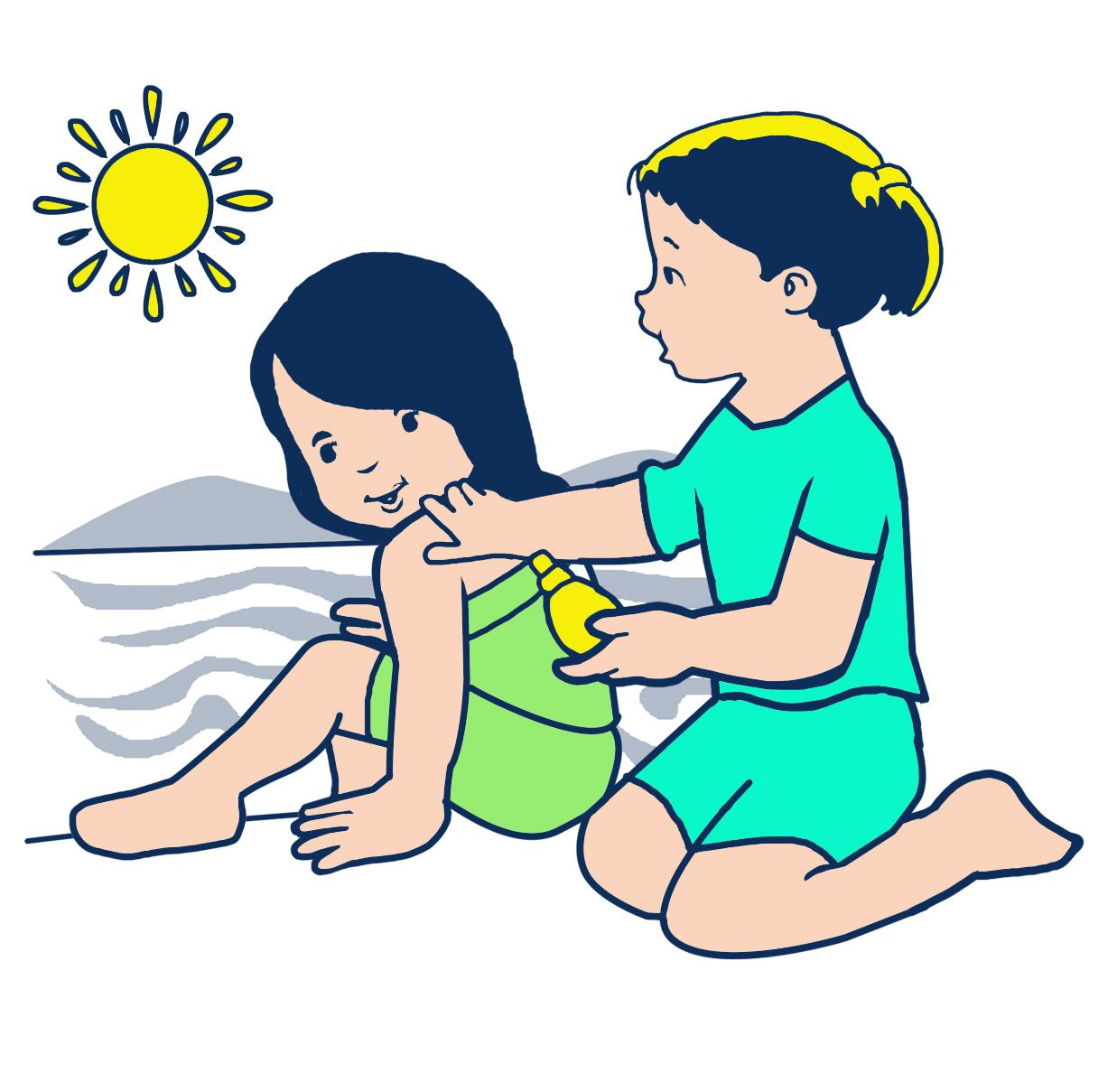 Images For > Putting On Lotion Clipart Clip art