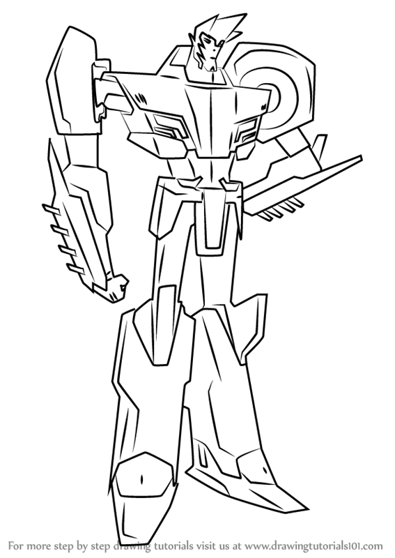 Learn How To Draw Sideswipe From Transformers Sketch Coloring Page Learn To Draw Drawings Transformers