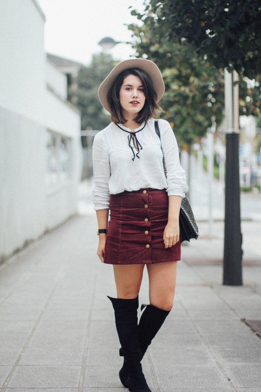 Outfits Con Faldas De Botones | Inspiration | Pinterest | Outfits Con Faldas Botones Y Falda
